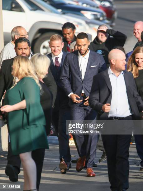Anthony Sadler and Spencer Stone are seen arriving at 'Jimmy Kimmel Live' on February 05 2018 in Los Angeles California