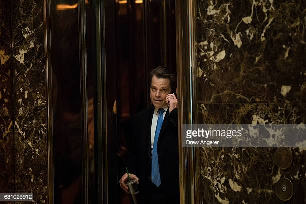 Anthony Scaramucci a member of the transition team executive committee and founder of investment firm SkyBridge Capital arrives at Trump Tower...