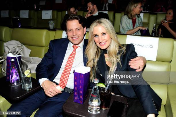 Anthony Scaramucci and Deidre Ball attend Special Red Carpet Screening Of Ron Howard's Documentary Pavarotti at iPic Theater on May 28 2019 in New...