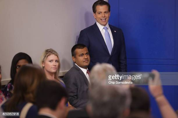 Anthony Scaramucci attends the daily White House press briefing in the Brady Press Briefing Room at the White House July 21 2017 in Washington DC...