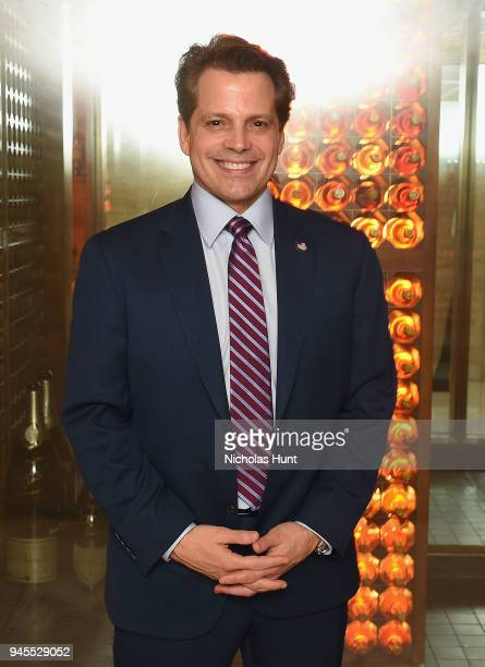 Anthony Scaramucci attends The Hollywood Reporter's Most Powerful People In Media 2018 at The Pool on April 12 2018 in New York City
