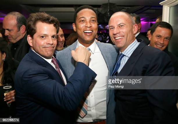 Anthony Scaramucci Don Lemon and Stormy Daniels' lawyer Michael Avenatti attend the United Talent Agency White House Correspondence Dinner PreParty...
