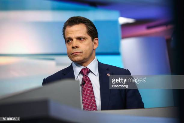 Anthony Scaramucci former director of communications for the White House and founder of SkyBridge Capital II LLC listens during a Bloomberg...