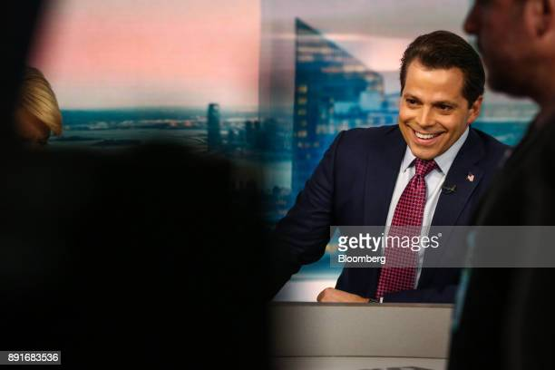 Anthony Scaramucci former director of communications for the White House and founder of SkyBridge Capital II LLC smiles during a Bloomberg Television...