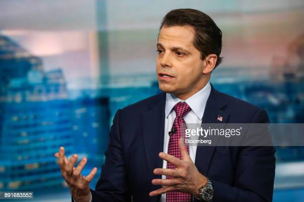 Anthony Scaramucci former director of communications for the White House and founder of SkyBridge Capital II LLC speaks during a Bloomberg Television...