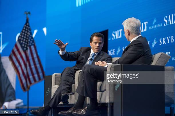 Anthony Scaramucci founder of SkyBridge Capital LLC speaks at the Skybridge Alternatives conference in Las Vegas Nevada US on Thursday May 18 2017...