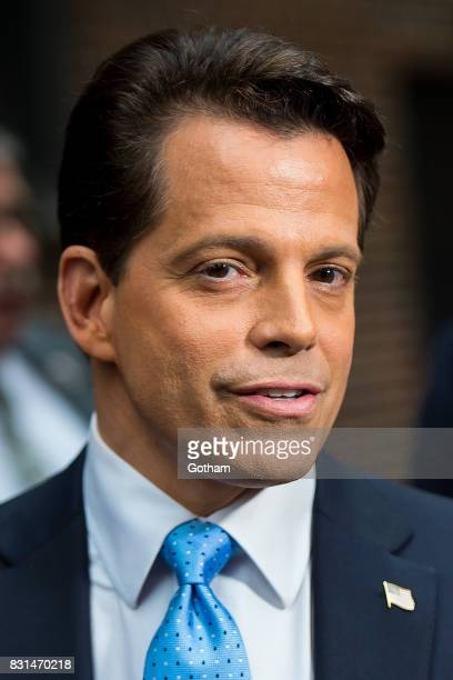 Anthony Scaramucci is seen in Midtown on August 14 2017 in New York City