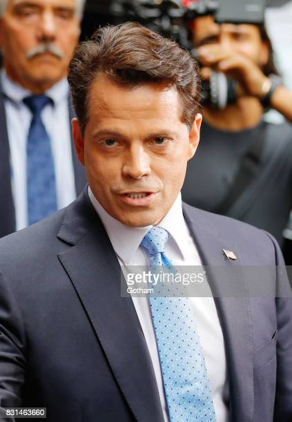 Anthony Scaramucci is seen on August 13 2017 in New York City