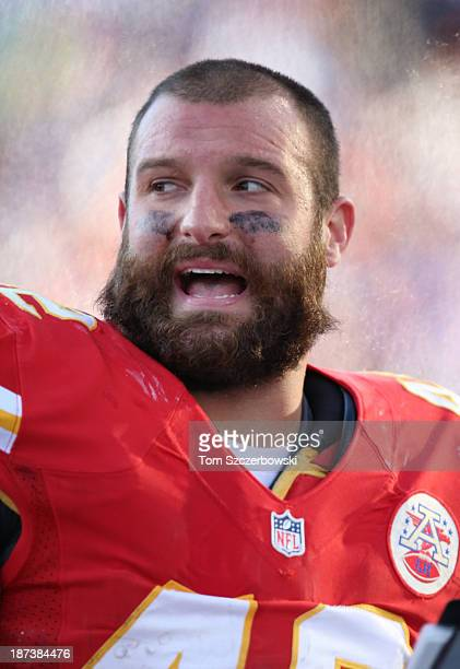 Anthony Sherman of the Kansas City Chiefs during NFL game action against the Buffalo Bills at Ralph Wilson Stadium on November 3 2013 in Orchard Park...