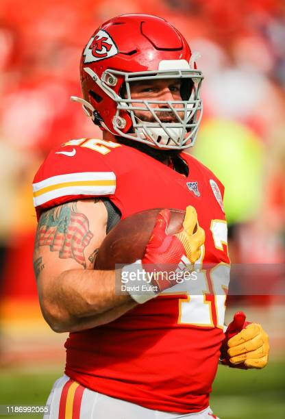 Anthony Sherman of the Kansas City Chiefs warmups up prior to the game against the Minnesota Vikings at Arrowhead Stadium on November 3 2019 in...
