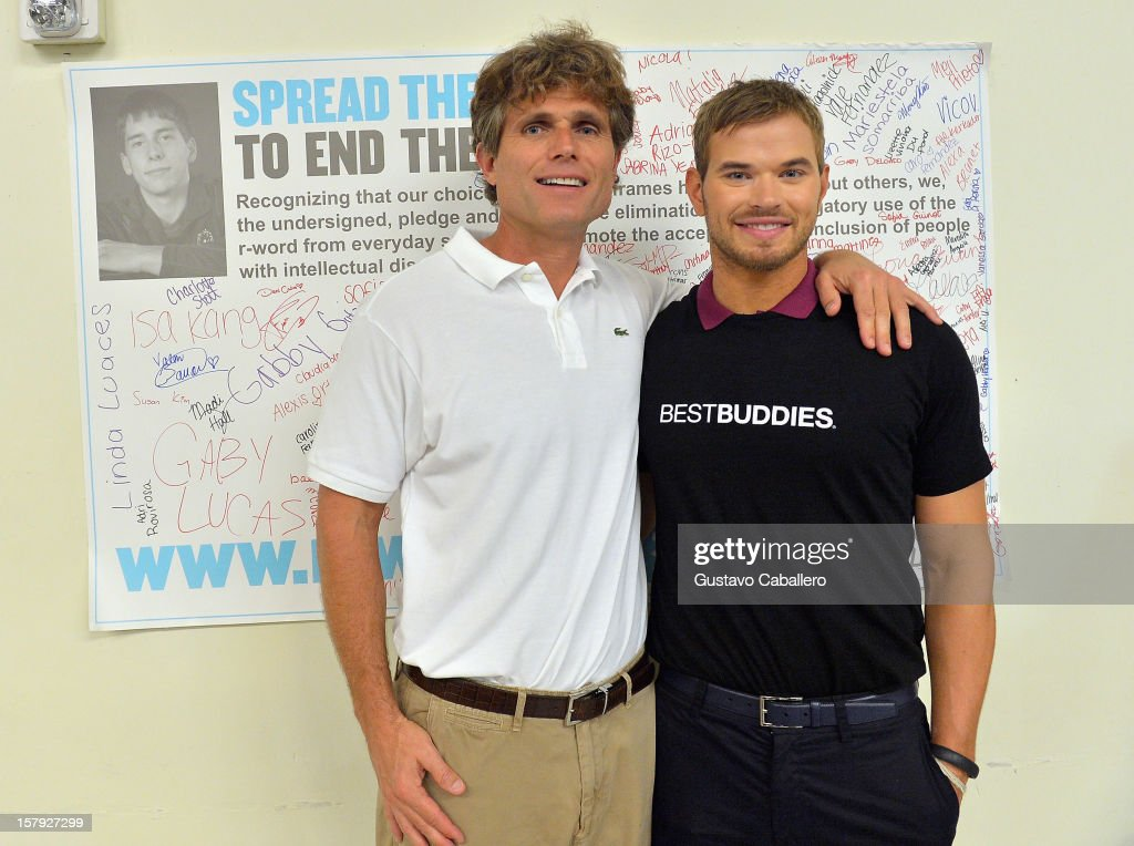 Anthony Shriver and Kellan Lutz attend the Best Buddies welcomes 'Twilight' star Kellan Lutz on December 7, 2012 in Miami, Florida.