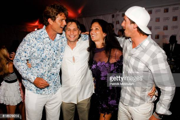 Anthony Shriver Jason Binn Emma SnowdonJones and Nic Roldan attend Third Annual Best Buddies Hamptons Gala at Private Residence on August 21 2010 in...