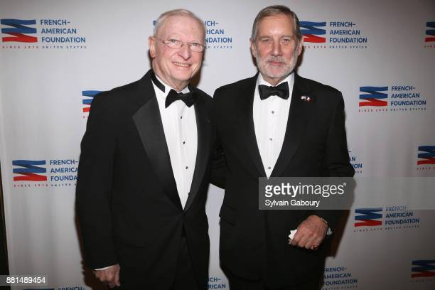 Anthony Smith and Allan Chapin attend French American Foundation Annual Gala 2017 at Gotham Hall on November 28 2017 in New York City