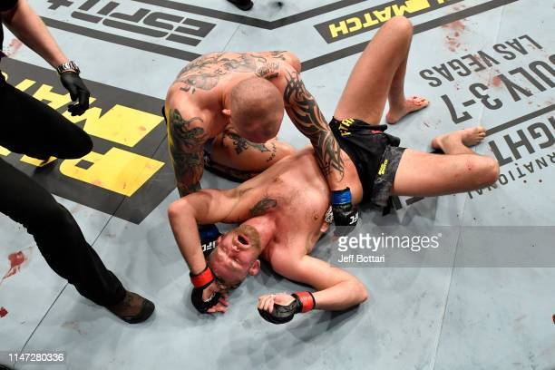 Anthony Smith embraces Alexander Gustafsson of Sweden after their light heavyweight bout during the UFC Fight Night event at Ericsson Globe on June 1...
