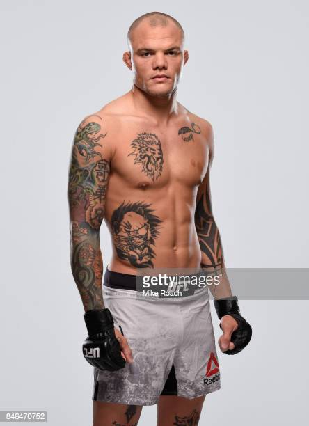 Anthony Smith poses for a portrait during a UFC photo session on September 13 2017 in Pittsburgh Pennsylvania