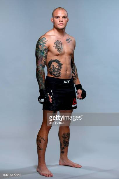 Anthony Smith poses for a portrait during a UFC photo session on July 19 2018 in Hamburg Germany