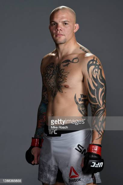 Anthony Smith poses for a post fight portrait backstage during the UFC Fight Night at UFC APEX on November 28, 2020 in Las Vegas, Nevada.