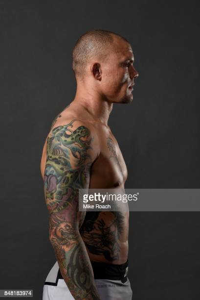 Anthony Smith poses for a post fight portrait backstage during the UFC Fight Night event inside the PPG Paints Arena on September 16 2017 in...