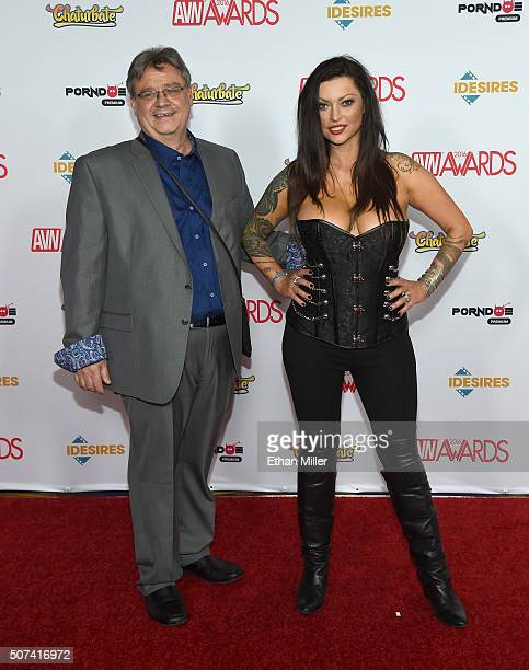 Anthony Solare and adult film actress/director Nikita Denise attend the 2016 Adult Video News Awards at the Hard Rock Hotel Casino on January 23 2016...