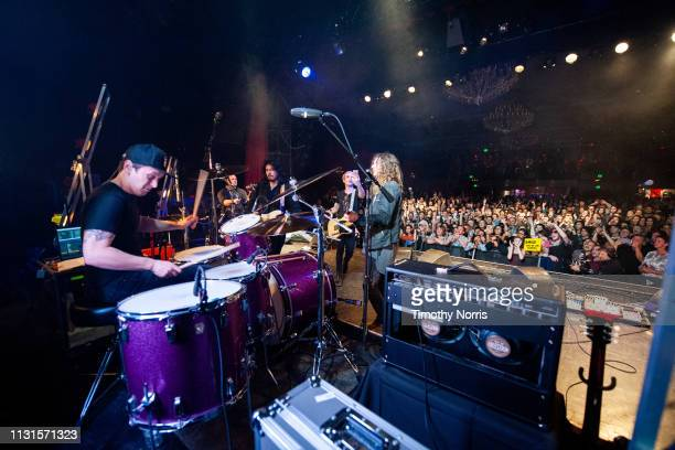 Anthony Sonetti Alex Espiritu Josh Katz and Joey Morrow of Badflower perform at El Rey Theatre on February 22 2019 in Los Angeles California