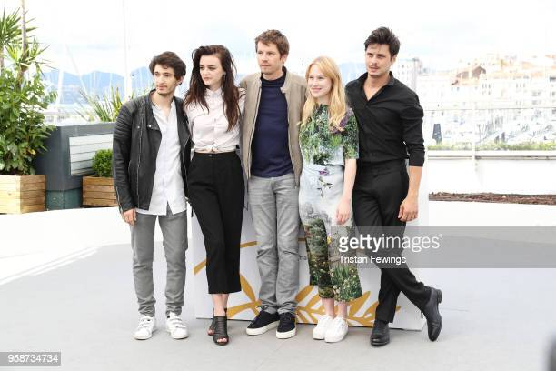Anthony Sonigo Adele Wismes Pierre Deladonchamps Sarah Megan Allouch and Gauthier Battoue attends the photocall for Talents Adami 2018 during the...