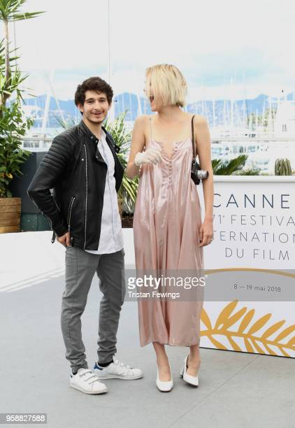 Anthony Sonigo and Suzanne RaultBale attend Talents Adami 2018 Photocall during the 71st annual Cannes Film Festival at Palais des Festivals on May...