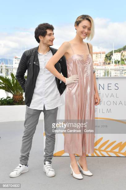 Anthony Sonigo and Suzanne RaultBale attends the photocall for Talents Adami 2018 during the 71st annual Cannes Film Festival at Palais des Festivals...