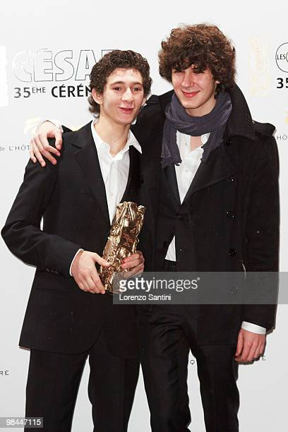 Anthony Sonigo and Vincent Lacoste arrive at the 35th Cesar Film Awards Dinner at Restaurant Fouquet's on February 27 2010 in Paris France