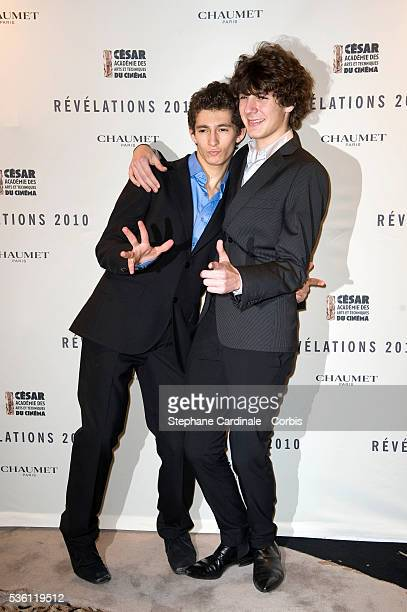 Anthony Sonigo and Vincent Lacoste attend Chaumet's Cocktail Party and Dinner for Cesar's Revelations 2010