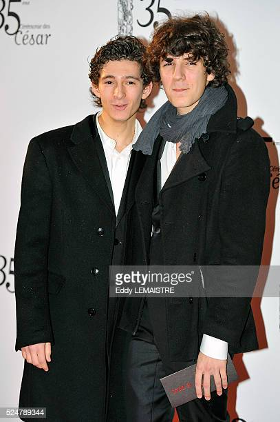 Anthony Sonigo and Vincent Lacoste attend the 35th Cesar Film Awards at Theatre du Chatelet on February 27 2010 in Paris France
