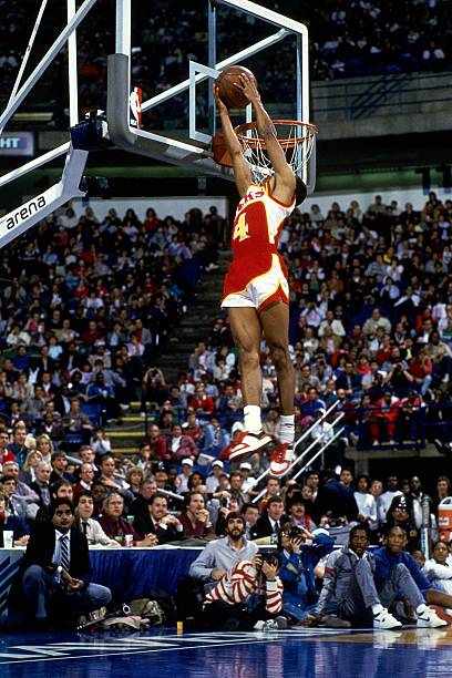 Spud Webb of the Atlanta Hawks, February 1986