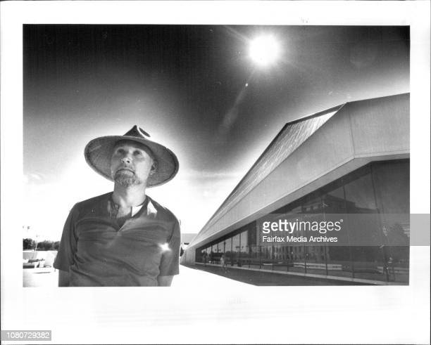 Anthony Steel director of the Adelaide Festival of the Arts outside the Festival Centre March 9 1984