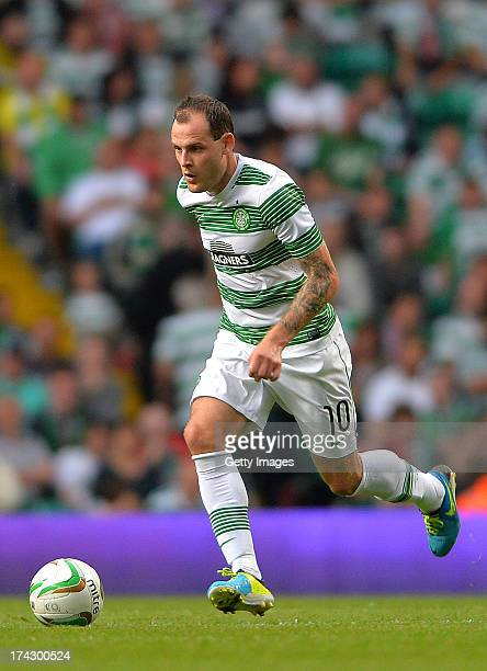 Anthony Stokes of Celtic during the UEFA Champions League Second Qualifying Round Second Leg match between Celtic and Cliftonville at Celtic Park...