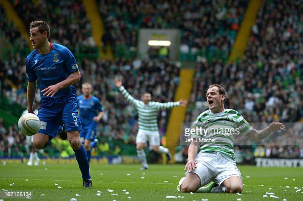 Anthony Stokes of Celtic in action against Garry Warren of Inverness Caledonian Thistle during the Clydesdale Bank Scottish Premier League match...