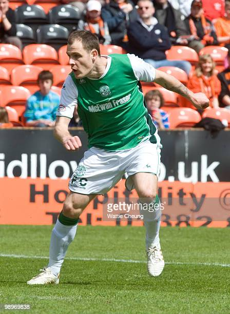 Anthony Stokes of Hibernian during the Clydesdale Bank Scottish Premier League match between Dundee United and Hibernian at Tannadice Park on May 9...