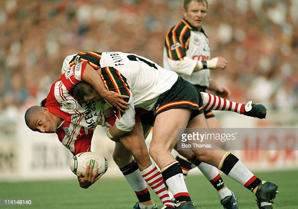 Anthony Sullivan of St Helens in action against Bradford during the Silk Cut Rugby League Challenge Cup Final at Wembley Stadium London on 27th April...