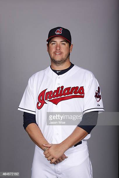 Anthony Swarzak of the Cleveland Indians poses during Photo Day on Thursday February 26 2014 at Goodyear Ballpark in Goodyear Arizona