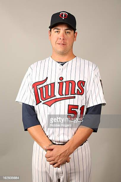 Anthony Swarzak of the Minnesota Twins poses during Photo Day on February 19 2013 at Hammond Stadium in Fort Myers Florida