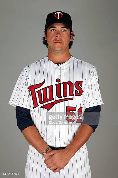 Anthony Swarzak of the Minnesota Twins poses during Photo Day on Monday February 27 2012 at Hammond Stadium in Fort Myers Florida