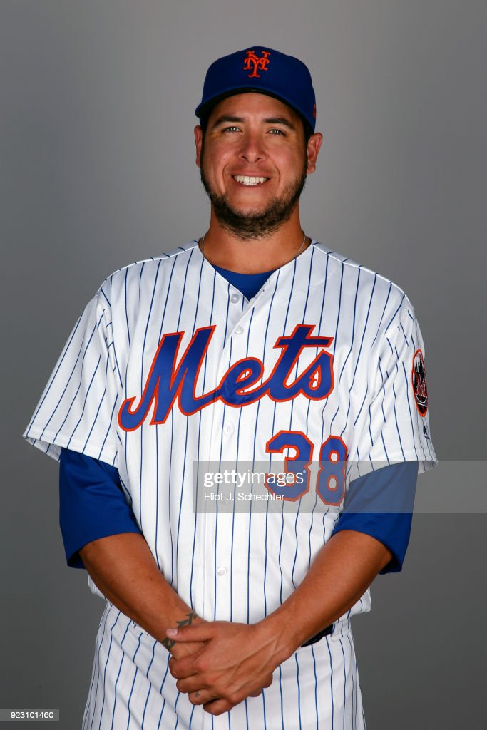 Anthony Swarzak #38 of the New York Mets poses during Photo Day on Wednesday, February 21, 2017 at Tradition Field in Port St. Lucie, Florida.