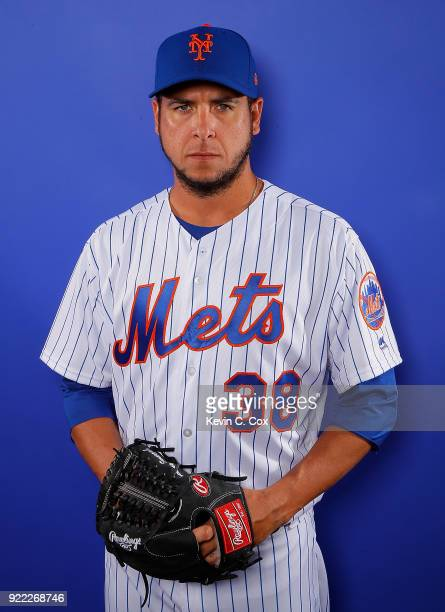 Anthony Swarzak of the New York Mets poses for a photo during photo days at First Data Field on February 21 2018 in Port St Lucie Florida
