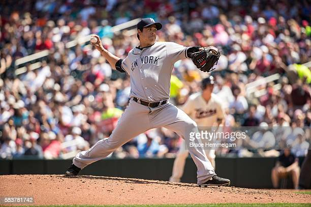Anthony Swarzak of the New York Yankees pitches against the Minnesota Twins on June 18 2016 at Target Field in Minneapolis Minnesota The Yankees...