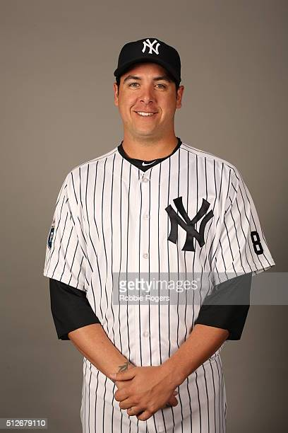 Anthony Swarzak of the New York Yankees poses during Photo Day on Saturday February 27 2016 at George M Steinbrenner Field in Tampa Florida