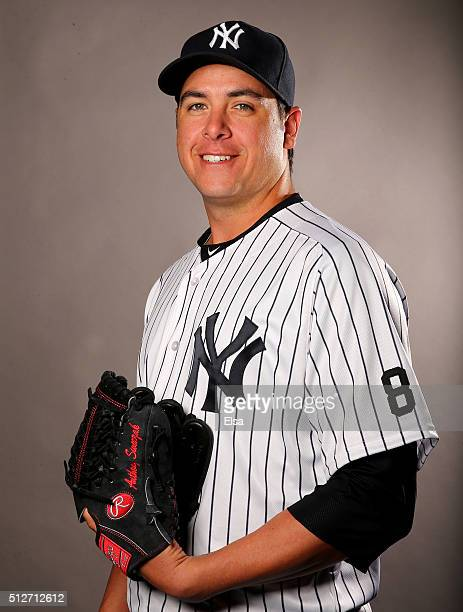 Anthony Swarzak of the New York Yankees poses for a portrait on February 27 2016 at George M Steinbrenner Stadium in Tampa Florida