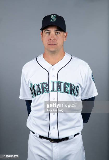 Anthony Swarzak of the Seattle Mariners poses during Photo Day on Monday February 18 2019 at Peoria Sports Complex in Peoria Arizona