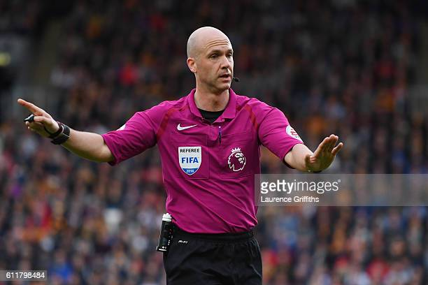 Anthony Taylor during the Premier League match between Hull City and Chelsea at KCOM Stadium on October 1 2016 in Hull England