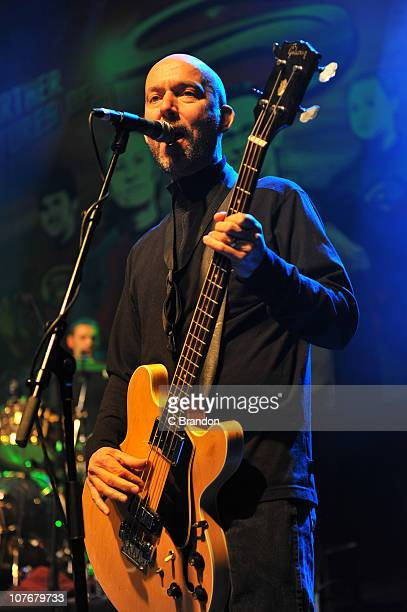 Anthony Thistlewaite of The Saw Doctors performs on stage at Shepherds Bush Empire on December 18 2010 in London England