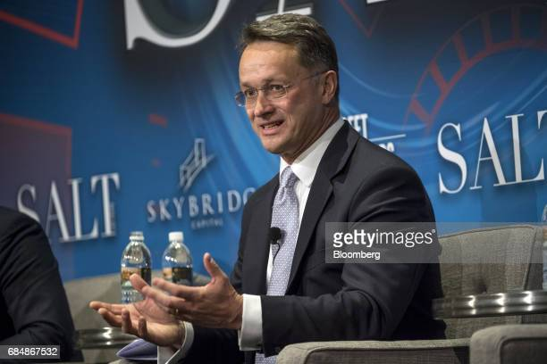 Anthony Todd cofounder and chief executive officer of Aspect Capital Ltd speaks at the Skybridge Alternatives conference in Las Vegas Nevada US on...