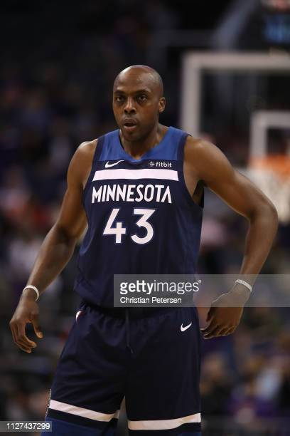 Anthony Tolliver of the Minnesota Timberwolves during the first half of the NBA game against the Phoenix Suns at Talking Stick Resort Arena on...