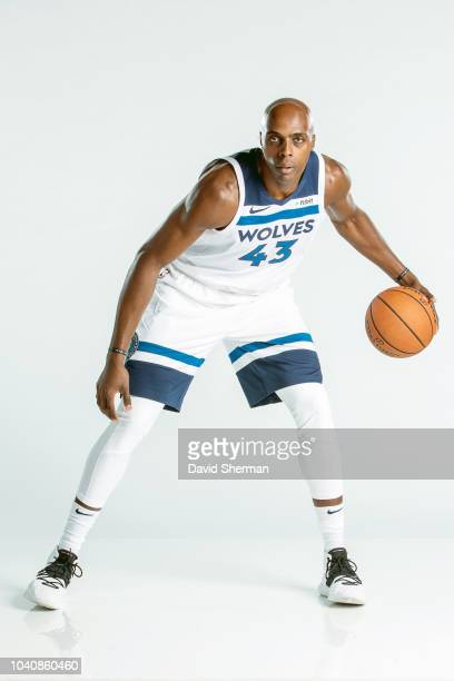 Anthony Tolliver of the Minnesota Timberwolves poses for a portrait during the 2018 Media Day on September 24 2018 at Target Center in Minneapolis...